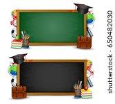 back to school background ... | Shutterstock .eps vector #650482030