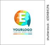 e letter talk brand identity.... | Shutterstock .eps vector #650484196