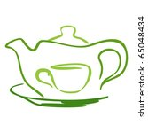 stylized tea icon. vector... | Shutterstock .eps vector #65048434