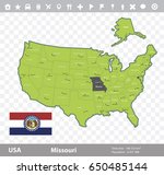 usa missouri state map and flag ...   Shutterstock .eps vector #650485144