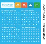 big icon set clean vector | Shutterstock .eps vector #650488090