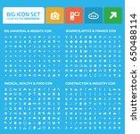 big icon set clean vector | Shutterstock .eps vector #650488114