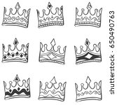 doodle of crown hand draw set | Shutterstock .eps vector #650490763
