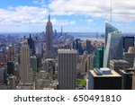 view of midtown manhattan on a... | Shutterstock . vector #650491810
