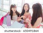 beauty women take shopping bag