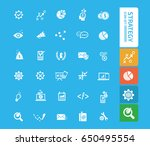 strategy icon set clean vector | Shutterstock .eps vector #650495554