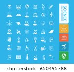 science icon set clean vector | Shutterstock .eps vector #650495788
