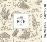 background with rice  plate... | Shutterstock .eps vector #650497210