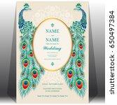 wedding invitation card... | Shutterstock .eps vector #650497384