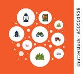 flat suv  kerosene  wood and... | Shutterstock .eps vector #650501938