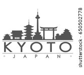 kyoto skyline silhouette... | Shutterstock .eps vector #650502778