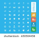 data analysis icon set clean... | Shutterstock .eps vector #650504458