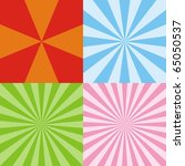 four colored radiant backgrounds | Shutterstock . vector #65050537