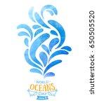 world oceans day. the... | Shutterstock .eps vector #650505520