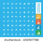 industry icon set clean vector | Shutterstock .eps vector #650507788