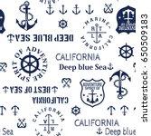 marine seamless pattern  cute...   Shutterstock .eps vector #650509183