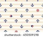 marine seamless pattern  anchor | Shutterstock .eps vector #650509198