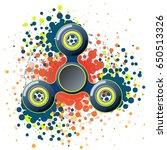 vector illustration with fidget ... | Shutterstock .eps vector #650513326