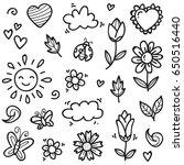 spring doodle | Shutterstock .eps vector #650516440