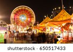 state fair carnival midway... | Shutterstock . vector #650517433