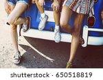 group of diverse friends travel ... | Shutterstock . vector #650518819