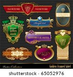 vector set of golden luxury... | Shutterstock .eps vector #65052976