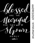 blessed are the merciful for... | Shutterstock .eps vector #650536099