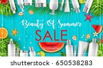 summer sale with beauty and... | Shutterstock . vector #650538283