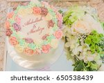 typical gifts from both bride... | Shutterstock . vector #650538439
