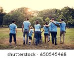 group of diversity people... | Shutterstock . vector #650545468