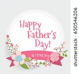 happy fathers day card design.... | Shutterstock .eps vector #650546206