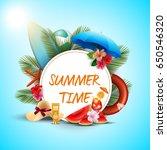 vector illustration of summer... | Shutterstock .eps vector #650546320