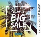 vector illustration of summer... | Shutterstock .eps vector #650546908