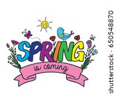 spring doodle design | Shutterstock .eps vector #650548870