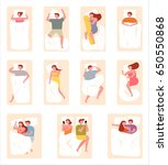 a wide range of sleeping styles ... | Shutterstock .eps vector #650550868