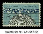 Small photo of USA - CIRCA 1960: A stamp dedicated to the Science is an enterprise that builds and organizes knowledge in the form of testable explanations and predictions about the natural world, circa 1960.