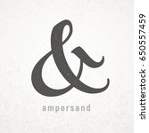 ampersand. elegant vector...   Shutterstock .eps vector #650557459