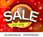 sale just now in red tone ... | Shutterstock .eps vector #650558266