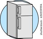 refrigerator | Shutterstock .eps vector #650559994