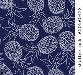 seamless pattern of pineapple | Shutterstock .eps vector #650560423