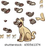 cartoon dog with different... | Shutterstock .eps vector #650561374