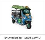 sketch of transportation city...   Shutterstock .eps vector #650562940