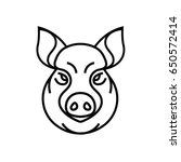 vector image of swine or pig... | Shutterstock .eps vector #650572414