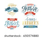 happy fathers day lettering... | Shutterstock .eps vector #650574880
