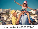 happy family traveling. people... | Shutterstock . vector #650577160