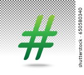 hashtag sign illustration.... | Shutterstock .eps vector #650580340