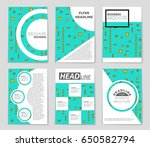 abstract vector layout... | Shutterstock .eps vector #650582794