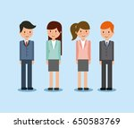 businesswoman and businessman... | Shutterstock .eps vector #650583769