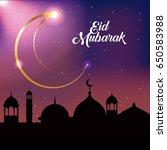 eid mubarak background | Shutterstock .eps vector #650583988