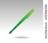 pen sign illustration. vector.... | Shutterstock .eps vector #650586586